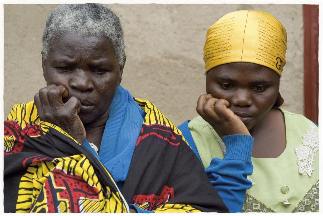 Grand-mère et petite fille