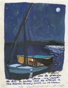 Clair de lune sur le Nil