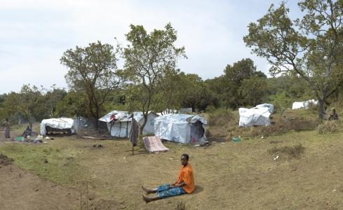 Jeanne au camp UNHCR de Tchaka
