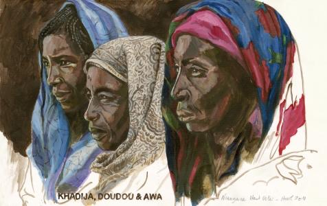 Khadija, Doudou et Awa